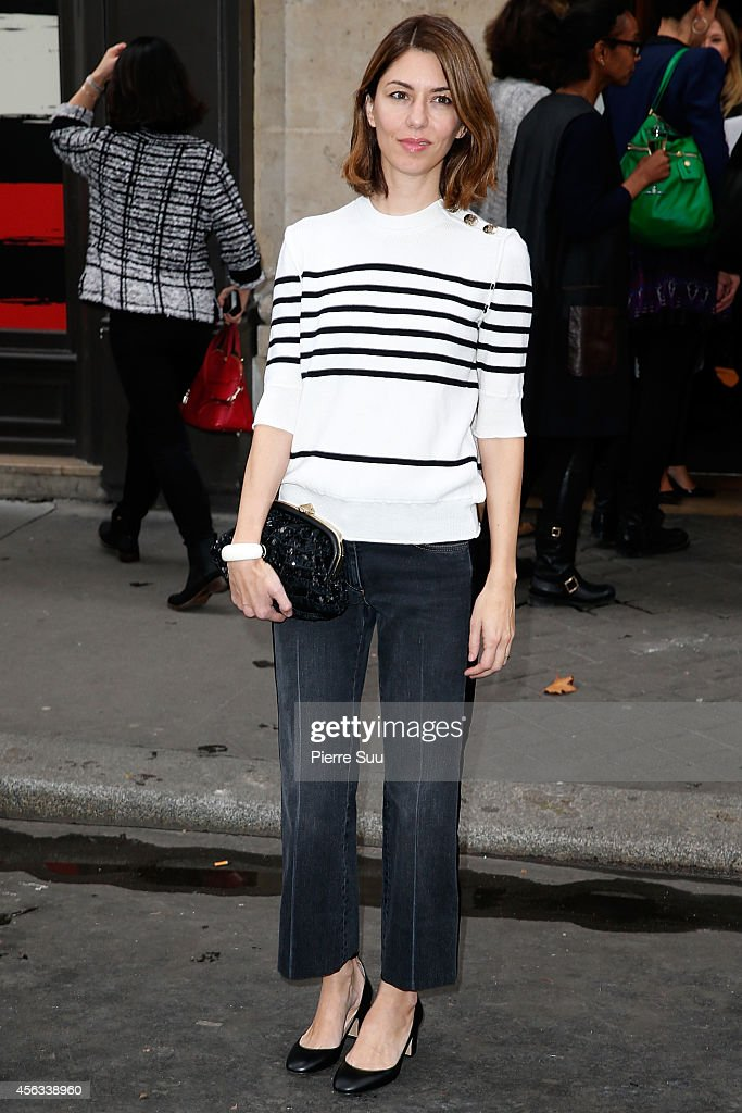 Sofia Coppola attends the Sonia Rykiel show as part of the Paris Fashion Week Womenswear Spring/Summer 2015 on September 29, 2014 in Paris, France.