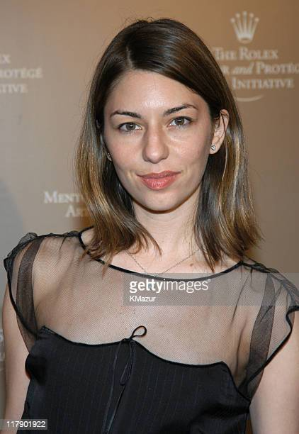Sofia Coppola during Rolex Mentor Protege Arts Initiative at State Theater at Lincoln Center in New York City New York United States