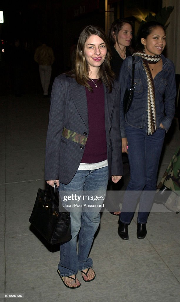 Sofia Coppola during Screening of 'Chop Suey' Directed by Bruce Weber at Laemmle Fairfax Theatre in Los Angeles, California, United States.