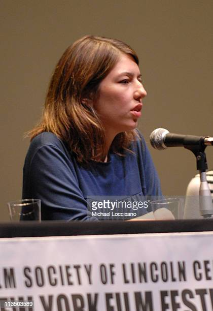 """Sofia Coppola during The 44th New York Film Festival - """"Marie Antoinette"""" Press Conference at Alice Tully Hall in New York City, New York, United..."""