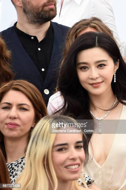 Sofia Coppola Elodie Bouchez and Fan Bingbing attend the 70th Anniversary photocall during the 70th annual Cannes Film Festival at Palais des...