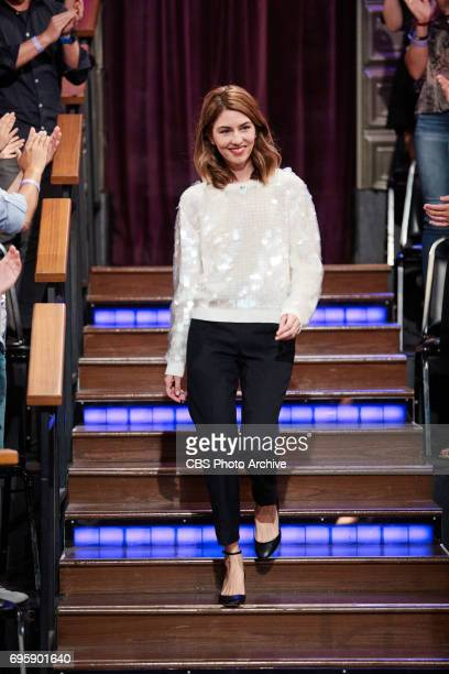 Sofia Coppola greets the audience during 'The Late Late Show with James Corden' Monday June 12 2017 On The CBS Television Network