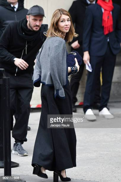 Sofia Coppola is seen arriving at Chanel Fashion show during Paris Fashion Week Haute Couture Spring/Summer 2018 on January 23 2018 in Paris France
