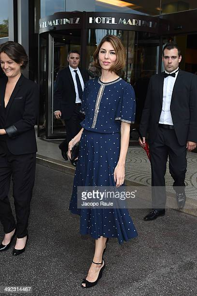 Sofia Coppola is seen leaving Hotel Martinez on day 6 of the 67th Annual Cannes Film Festival on May 19 2014 in Cannes France