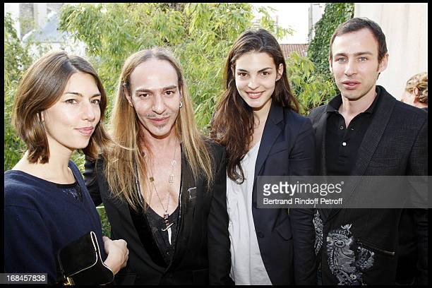 Sofia Coppola John Galliano Bojana Panic and Alexis Roche at Launch Of John Galliano's New Fragrance Number 1 In Paris