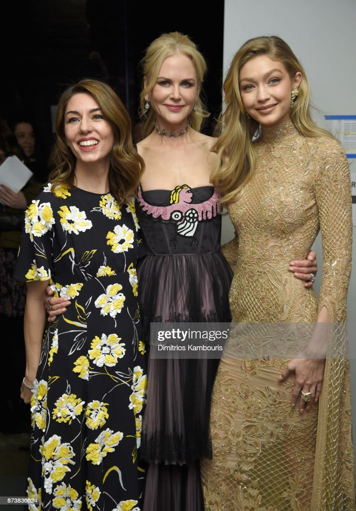 Sofia Coppola, Nicole Kidman, and Gigi Hadid pose backstage at Glamour's 2017 Women of The Year Awards at Kings Theatre on November 13, 2017 in Brooklyn, New York.