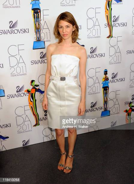 Sofia Coppola poses backstage at the 2011 CFDA Fashion Awards at Alice Tully Hall Lincoln Center on June 6 2011 in New York City