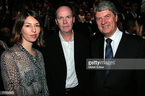 Sofia Coppola, Richard Prince and Yves Carcelle attends the Louis Vuitton fashion show, during the Spring/Summer 2008 ready-to-wear collection show...