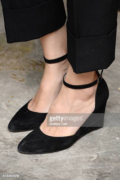 Sofia Coppola shoe detail attends the Metrograph opening night at Metrograph on March 2 2016 in New York City