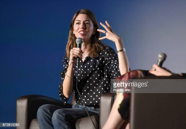 Sofia Coppola speaks onstage during the On Directing Sofia Coppola at AFI FEST 2017 Presented By Audi at TCL Chinese 6 Theatres on November 11 2017...