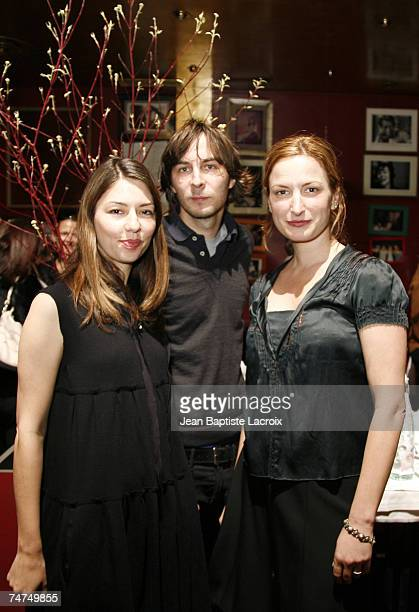 Sofia Coppola Thomas Mars from Phoenix and Zoe Cassavetes at the Dave in Paris France