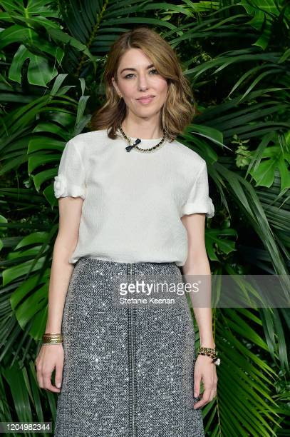 Sofia Coppola wearing CHANEL attends CHANEL and Charles Finch PreOscar Awards Dinner at Polo Lounge at The Beverly Hills Hotel on February 08 2020 in...