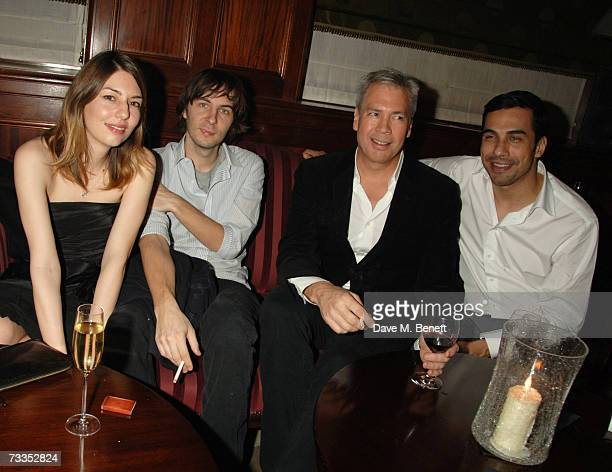Sofia Coppola with boyfriend Thomas Mars Robert Duffy and guest attend the after party following the Marc Jacobs fashion show celebrating the opening...