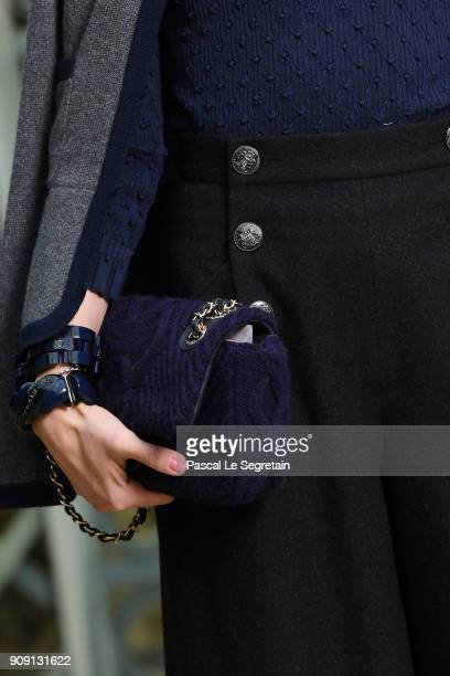 Sofia Coppolabag detail attends the Chanel Haute Couture Spring Summer 2018 show as part of Paris Fashion Week on January 23 2018 in Paris France