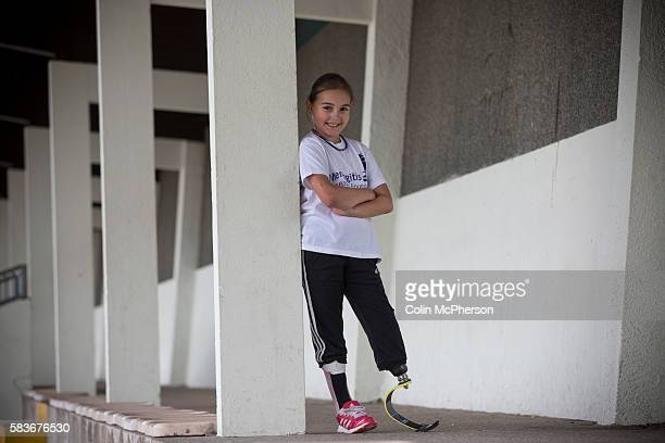 Sofia Crockatt takes a break from training for the Mini Great North Run at Stanley Park Arena in Blackpool Sofia from Leyland Lancashire had to have...