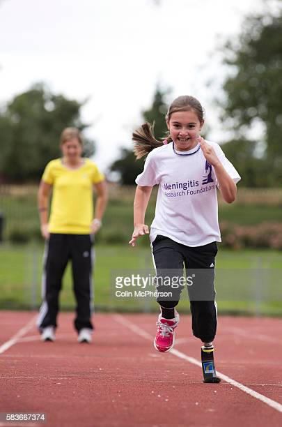 Sofia Crockatt training for the Mini Great North Run with her coach Vicky Huyton at Stanley Park Arena in Blackpool Sofia from Leyland Lancashire had...