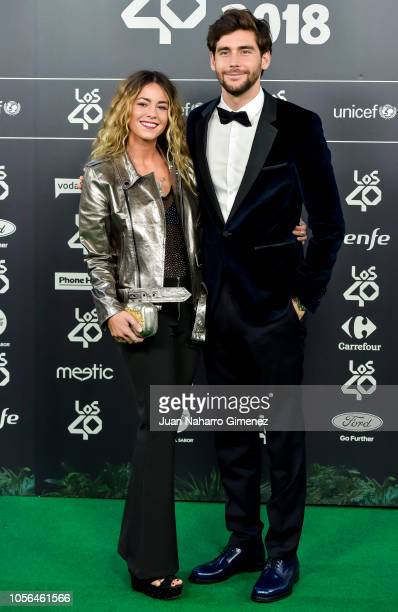 Sofia Ellar and Alvaro Soler attend during 'LOS40 Music Awards' 2018 at WiZink Center on November 2 2018 in Madrid Spain