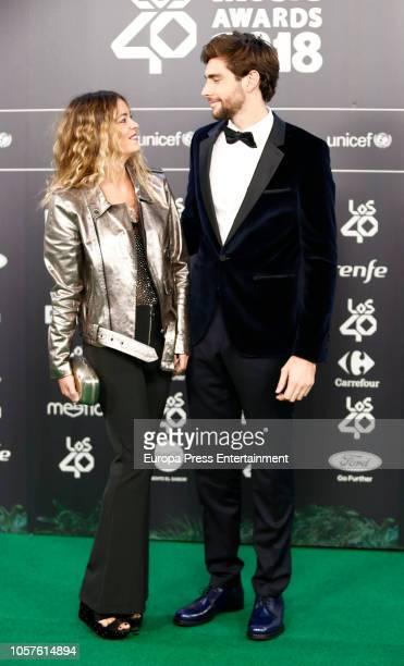 Sofia Ellar and Alvaro Soler attend 'LOS40 Music Awards' 2018 at WiZink Center on November 2 2018 in Madrid Spain