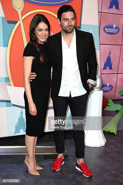 Sofia Essaidi and Adrien Galo attend the launch of 'RatatouilleThe Adventure' at Disneyland Resort Paris on June 21 2014 in Paris France