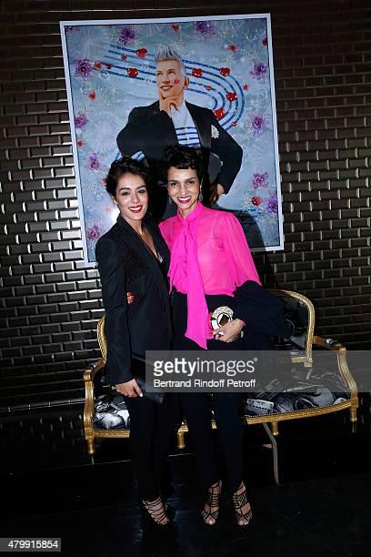 Sofia Essaidi and Farida Khelfa pose Backstage after the Jean Paul Gaultier show as part of Paris Fashion Week HauteCouture Fall/Winter 2015/2016 on...