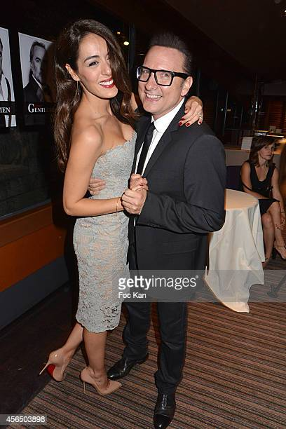 Sofia Essaidi and Jean Marc Genereux attend the 'For Ever Gentlemen 2' CD Launch at Le Paris boat on October 1 2014 in Paris France