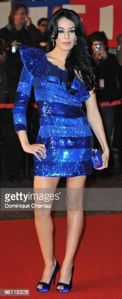 Sofia Essaidi attends at Palais des Festivals on January 23 2010 in Cannes France