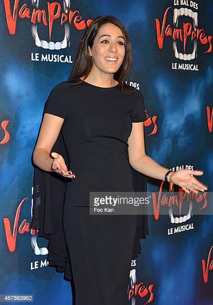 Sofia Essaidi attends 'Le Bal Des Vampires' Premiere At Theatre Mogador on October 16 2014 in Paris France