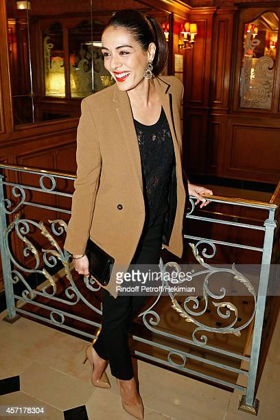 Sofia Essaidi attends the Nathalie Garcon's Book Signing Cocktail Party At Hotel Regina on October 13 2014 in Paris France