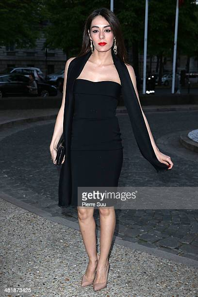 Sofia Essaidi attends the UNITAID Party at the Palais d'iena on April 1 2014 in Paris France