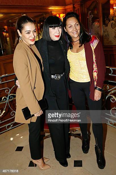 Sofia Essaidi Chantal Thomass and Hermine de Clermont Tonnerre attend the Nathalie Garcon's Book Signing Cocktail Party At Hotel Regina on October 13...