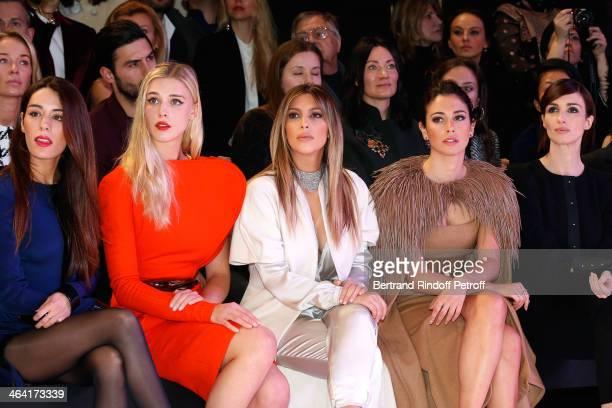 Sofia Essaidi Gaia Weiss Kim Kardashian Blanca Suarez and Paz Vega attend the Stephane Rolland show as part of Paris Fashion Week Haute Couture...