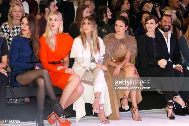 Sofia Essaidi Gaia Weiss Kim Kardashian Blanca Suarez Paz Vega and Rafael Amargo attend the Stephane Rolland show as part of Paris Fashion Week Haute...