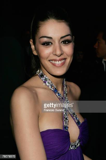Sofia Essaidi leaves after attending the NRJ Music Awards 2008 on January 26 2008 in Cannes France