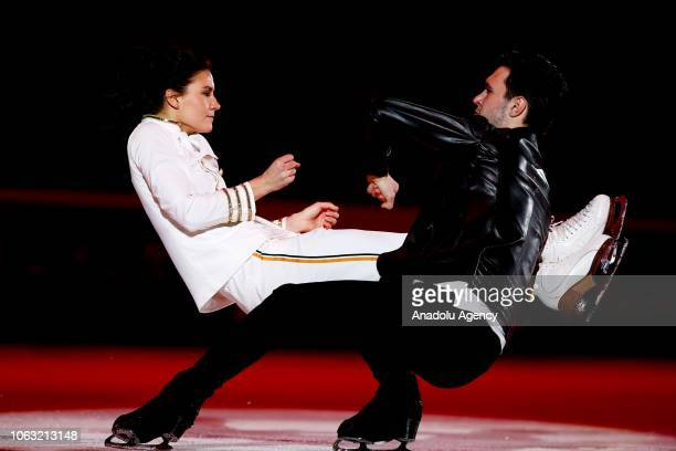 Sofia Evdokimova and Egor Bazin of Russia perform during the Gala Exhibition of the ISU GP Rostelecom Cup 2018 at the Megasport Arena in Moscow...
