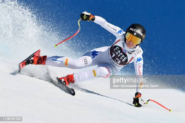 Sofia Goggia of Italy competes during the Audi FIS Alpine Ski World Cup Women's Downhill on February 23 2019 in Crans Montana Switzerland