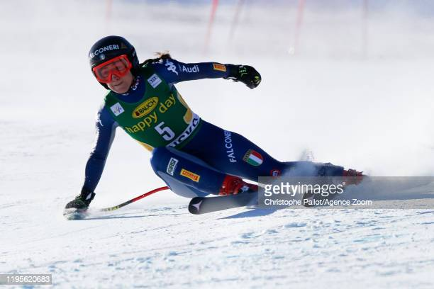 Sofia Goggia of Italy competes during the Audi FIS Alpine Ski World Cup Women's Downhill on January 24 2020 in Bansko Bulgaria