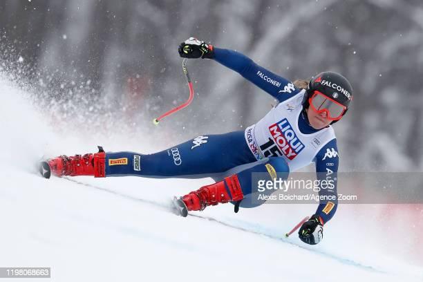 Sofia Goggia of Italy competes during the Audi FIS Alpine Ski World Cup Women's Super G on February 2, 2020 in Sochi Russia.