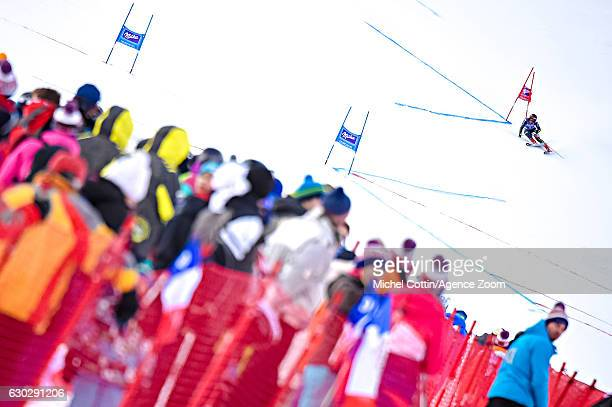 Sofia Goggia of Italy competes during the Audi FIS Alpine Ski World Cup Women's Giant Slalom on December 20 2016 in Courchevel France