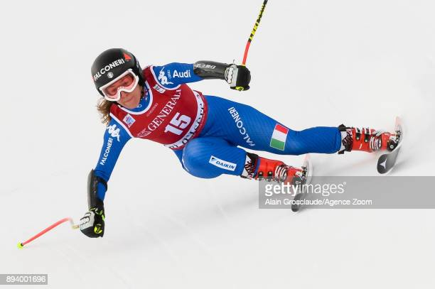 Sofia Goggia of Italy competes during the Audi FIS Alpine Ski World Cup Women's Super G on December 17 2017 in Vald'Isere France