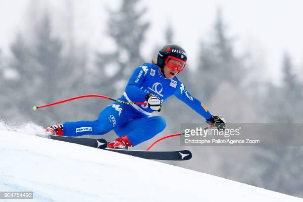 Sofia Goggia of Italy competes during the Audi FIS Alpine Ski World Cup Women's Downhill on January 14 2018 in Bad Kleinkirchheim Austria