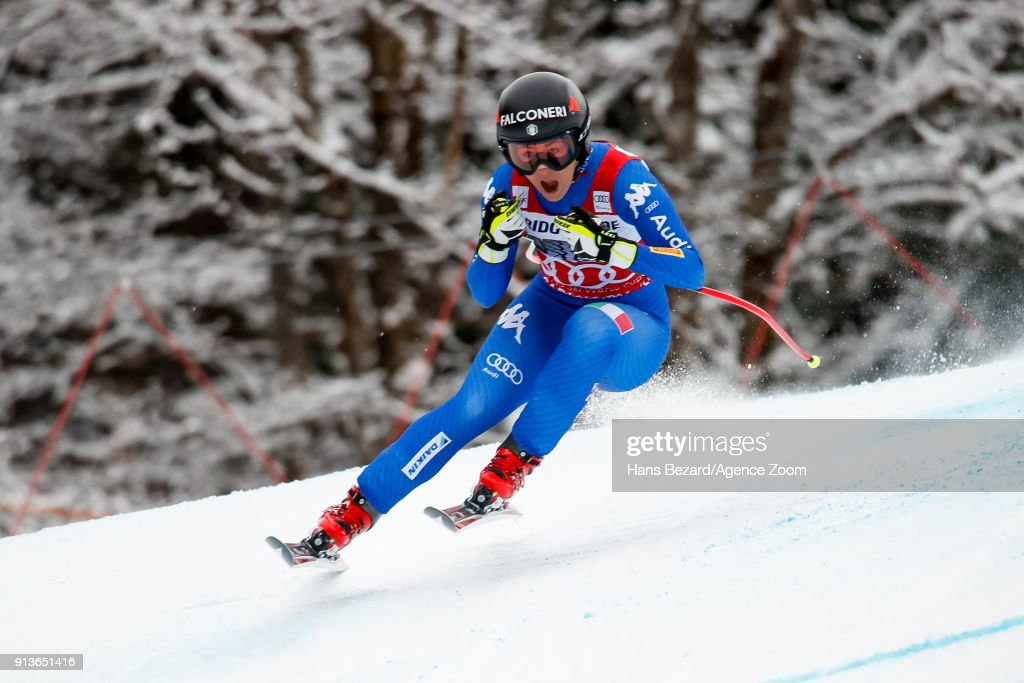 Sofia Goggia of Italy competes during the Audi FIS Alpine Ski World Cup Women's Downhill on February 3, 2018 in Garmisch-Partenkirchen, Germany.