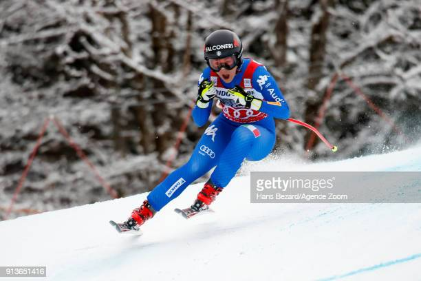 Sofia Goggia of Italy competes during the Audi FIS Alpine Ski World Cup Women's Downhill on February 3 2018 in GarmischPartenkirchen Germany