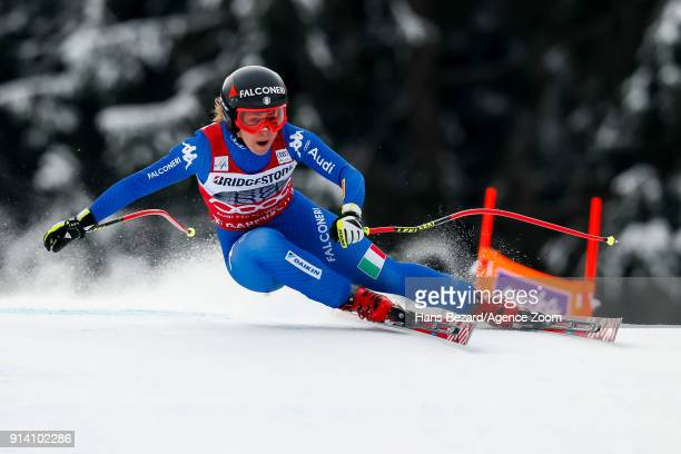 Sofia Goggia of Italy competes during the Audi FIS Alpine Ski World Cup Women's Downhill on February 4 2018 in GarmischPartenkirchen Germany