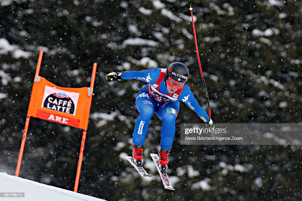 Sofia Goggia of Italy competes during the Audi FIS Alpine Ski World Cup Finals Men's and Women's Downhill on March 14, 2018 in Are, Sweden.