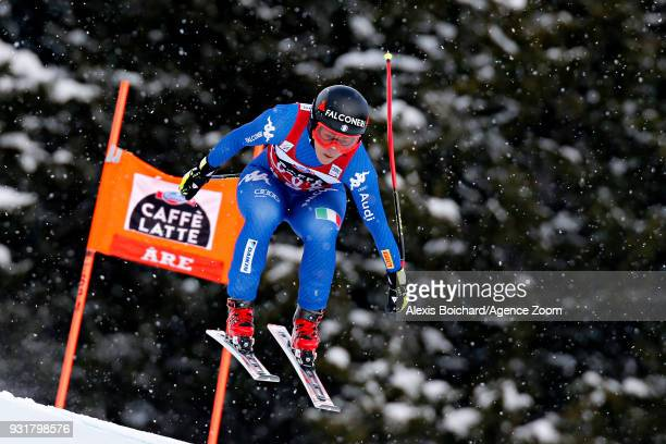 Sofia Goggia of Italy competes during the Audi FIS Alpine Ski World Cup Finals Men's and Women's Downhill on March 14 2018 in Are Sweden