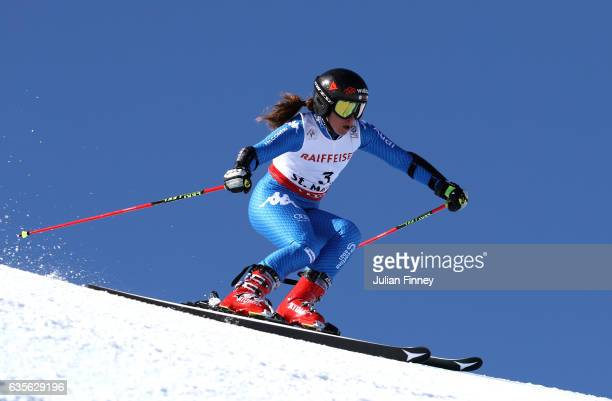 Sofia Goggia of Italy competes in the Women's Giant Slalom during the FIS Alpine World Ski Championships on February 16 2017 in St Moritz Switzerland