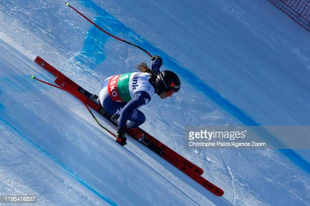 Sofia Goggia of Italy in action during the Audi FIS Alpine Ski World Cup Women's Downhill Training on January 23 2020 in Bansko Bulgaria