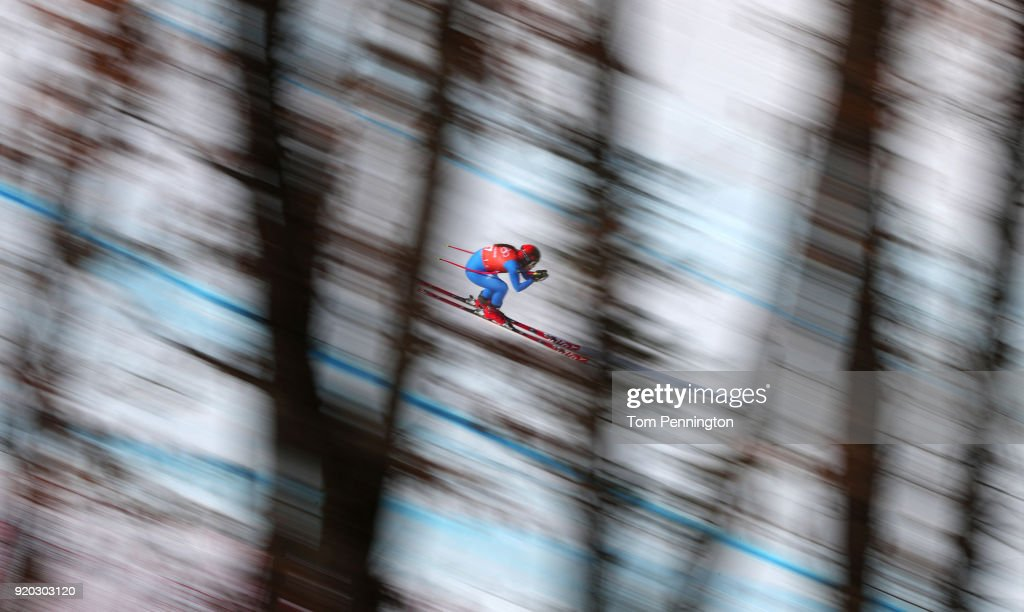 Sofia Goggia of Italy makes a run during Alpine Skiing Ladies' Downhill Training on day 10 of the PyeongChang 2018 Winter Olympic Games at Jeongseon Alpine Centre on February 19, 2018 in Pyeongchang-gun, South Korea.