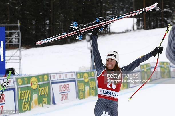 Sofia Goggia of Italy takes 2nd place during the Audi FIS Alpine Ski World Cup Women's Downhill on December 2 2016 in Lake Louise Canada