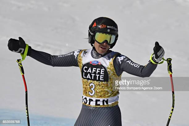 Sofia Goggia of Italy takes 3rd place during the Audi FIS Alpine Ski World Cup Finals Women's and Men's Downhill on March 15 2017 in Aspen Colorado